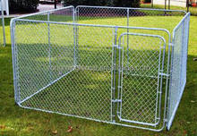 Heavy duty steel frame metal hot dip galvanized chain link dog cage