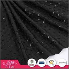Fancy design beautiful black heavy beaded sequin embroidery fabric