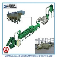 plastic crushing line/high quality pp pe film washing