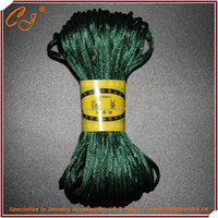 rattail cord in sekin , Korean satin silk Cord 2mm dark green