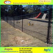 5ft pvc coated used chain link fence panels