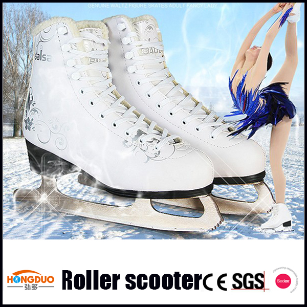 new design cold resistance stainless steel blades ice skating shoes