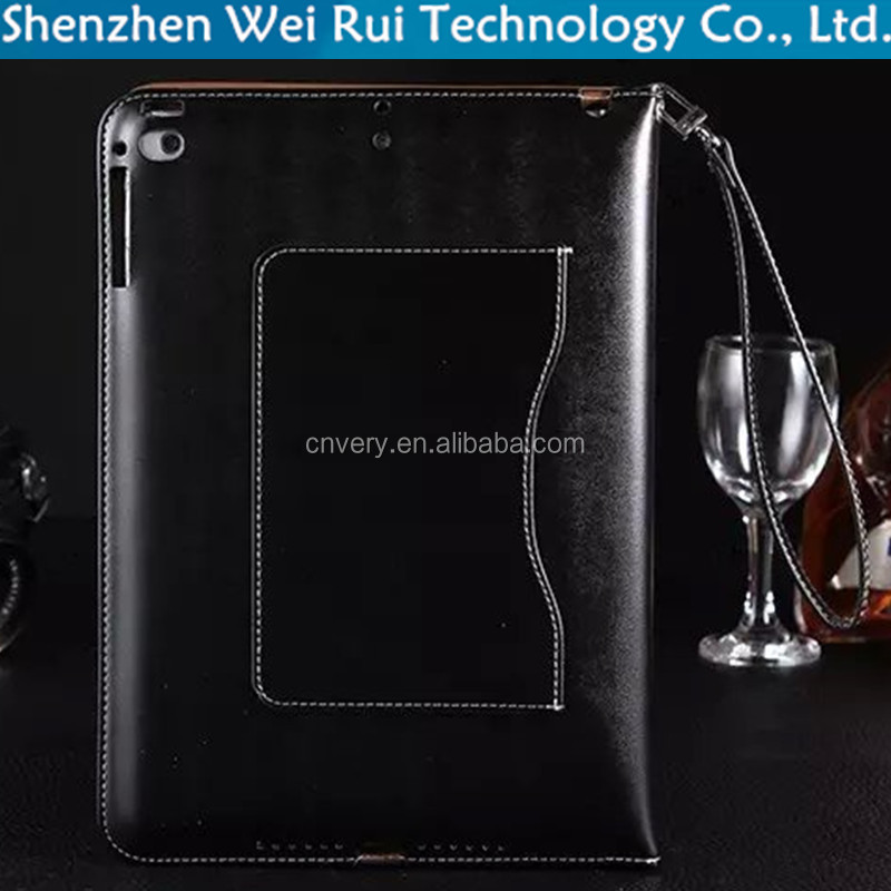 factory luxury wallet stand with lanyard tablet pc pu leather covers for ipad mini 4 case