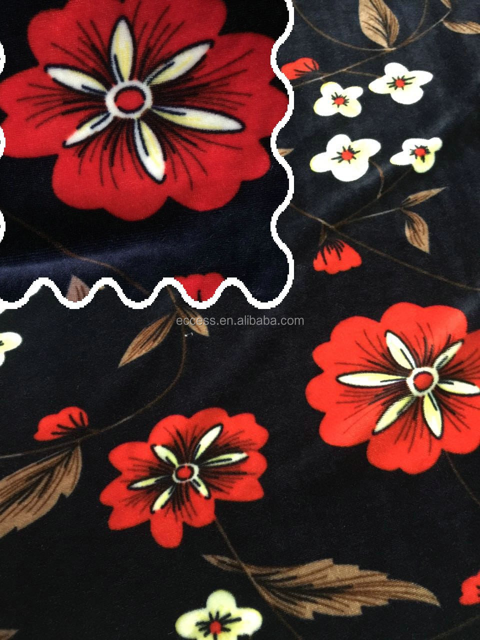 100% polyeste printing soft velvet fabric for garments and home textile