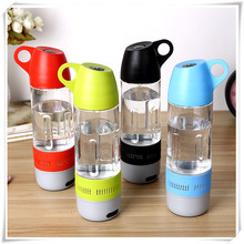Water Bottle Waterproof Bluetooth Wireless Speaker Sound Stereo Music Player With Compass