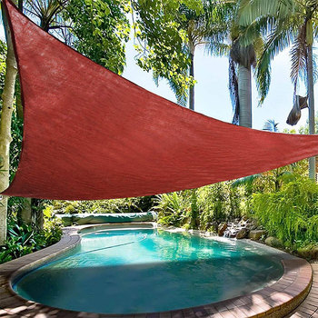 16.5x16.5x16.5FT Driehoek Rode Zon Sail Shade