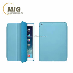 leather case for ipad pro microfiber inside with strong magnet for ipad case