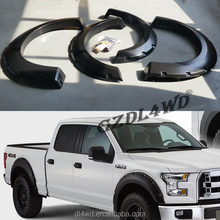 Plastic Car Fender Flares Extension Wheel Eyebrow For Raptor F150 2015 Parts