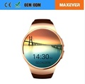 Full Display Round IPS Touch Screen MTK2502 BT4.0 KW18 Smart Watch Mobile Phone