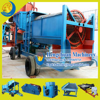 China Qingzhou Hengchuan Mobile Gold Trommel / Gold Wash Plant / Gold Mining Machine