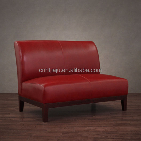 Top Quality Red Leather Loveseat With Original Price