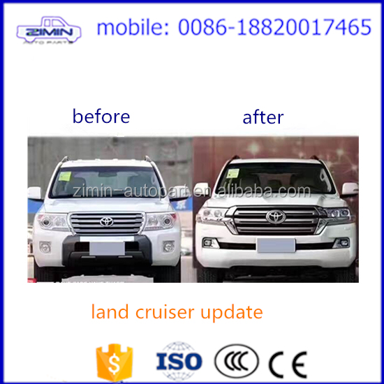 high quality complete upgrade body kit for land cruiser fj200 2008 - 2015 upgrade to 2016 - 2017
