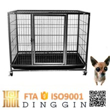 Hollow tube dog kennel with wheels