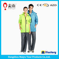 Maiyu new arrival high quality plastic unisex rain suit