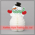 Hanging Small Decorative Snowman Honeycomb For Christmas Decoration Christmas Gift