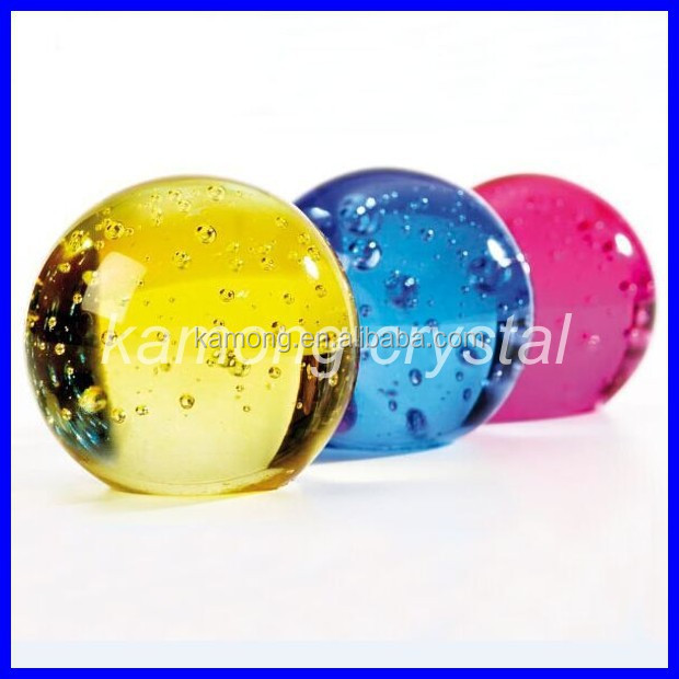 Garden fountain decorative fengshui bubble crystal color