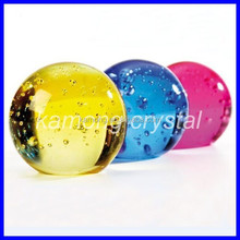 Garden Fountain decorative fengshui bubble Crystal color solid glass balls for sale