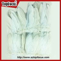 trims White Color Dyed geese feather ribbons Goose feather for sale