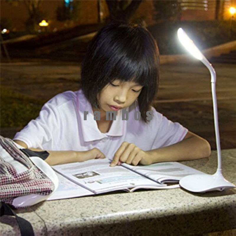 LED Table USB Desk Lamp Led Night Reading Book Light Touch Power Bank Table Lamps