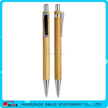 Push bamboo eco ball pen bamboo material eco pens for promotional