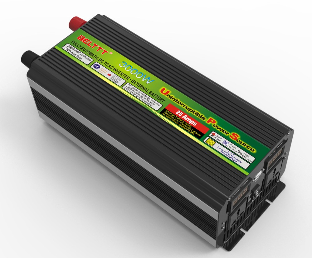 inverter circuit diagram 3000w dc 12v to ac 220v UPS solar power inverer with ups charger LED display with wire-in Car Inverters from Automobiles & ...