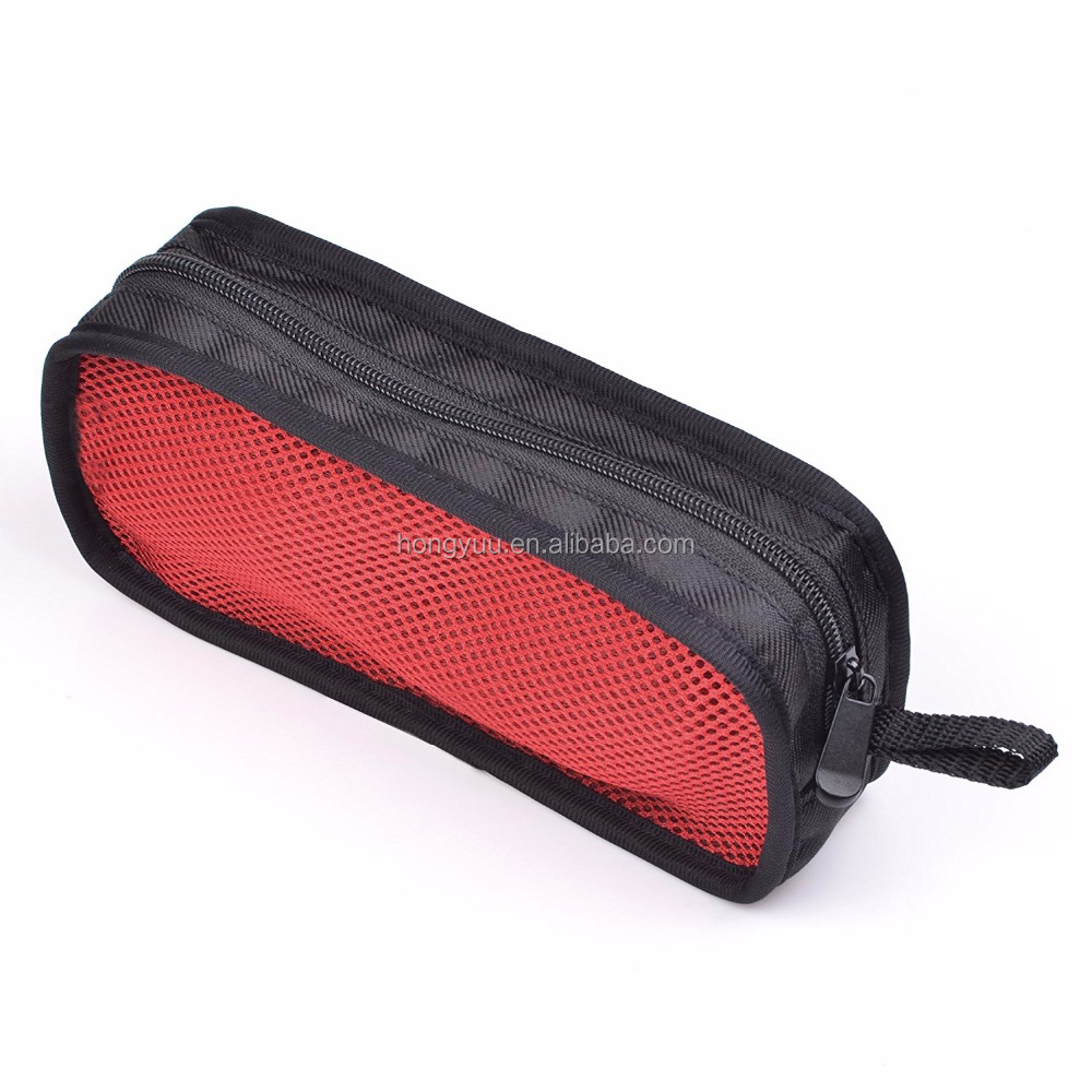 Electronics Travel Organizer Bag Travel Carrying Zipper Mesh Bag Case