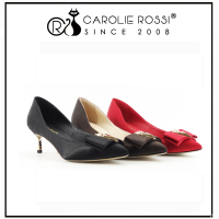 overseas free shipping cheap bow shoes with gold heel chunk