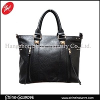 promotion women hangbag/studded luxury tote bag/top grade tassel satchel bag