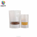 Waterproof White Kraft Zipper Packaging Bag with Window