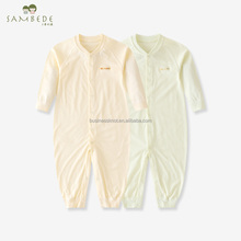 SAMBEDE 100% Cotton Original Solid Color Baby Infant Long-sleeved Rompers SM7S10027