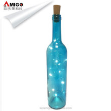 Decoration Cork Wine Bottle copper wire String LED Lights with R44 battery box