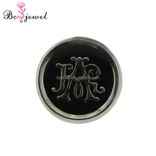 Enamel style customized logo stamping gold jeans metal shank buttons garment accessories custom made clothing fancy button