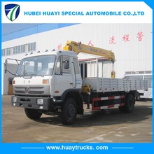 Dongfeng 5 tons hydraulic truck crane knuckle boom truck mounted crane for sale
