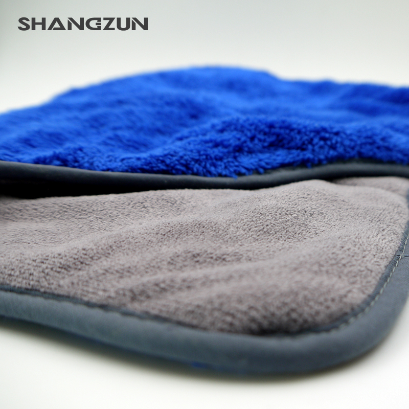 double sided plush microfiber fabric printed towel