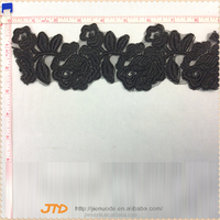 New Style Custom Design Wedding Dress Embroidered Fancy Embroidery Lace Trim
