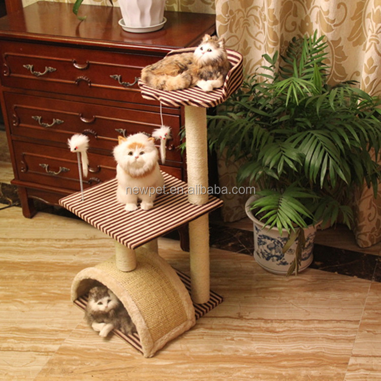 Fine quality stylish design arched cat house half circle shaped cat scratcher toy for cat tree