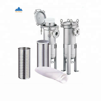 High flow rate filter bag filter housing for wide range of liquid flow capacities in food & beverage and chemical filtration