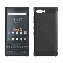 Wholesale Drawing Carbon Fiber Soft TPU Shockproof <strong>Phone</strong> Case For <strong>Blackberry</strong> Keyone 2