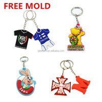 cheap print pvc key chain custom 3d soft pvc keychain