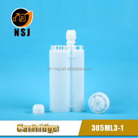 385ml 3:1Plastic Disposable Side by Side Epoxy cartridge in Industry