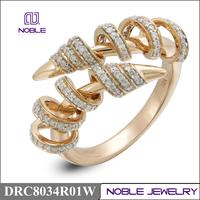 18k rose gold jewellery pave setting luxury diamond ring
