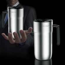 unique novelty travel thermos mug leakproof stainless steel travel mug , thermo mug with handle