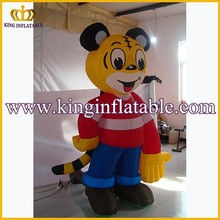 Customized Tiger Advertising Inflatable Mascot Costume, Inflatable Costumes Walking Mascot