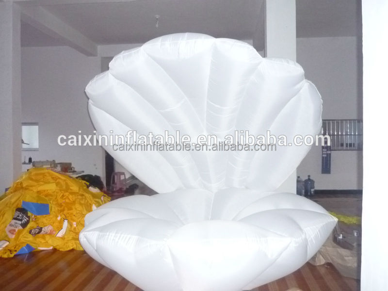 customized inflatable PVC seashell for advertising/ high quality inflatable large seashell balloon for event