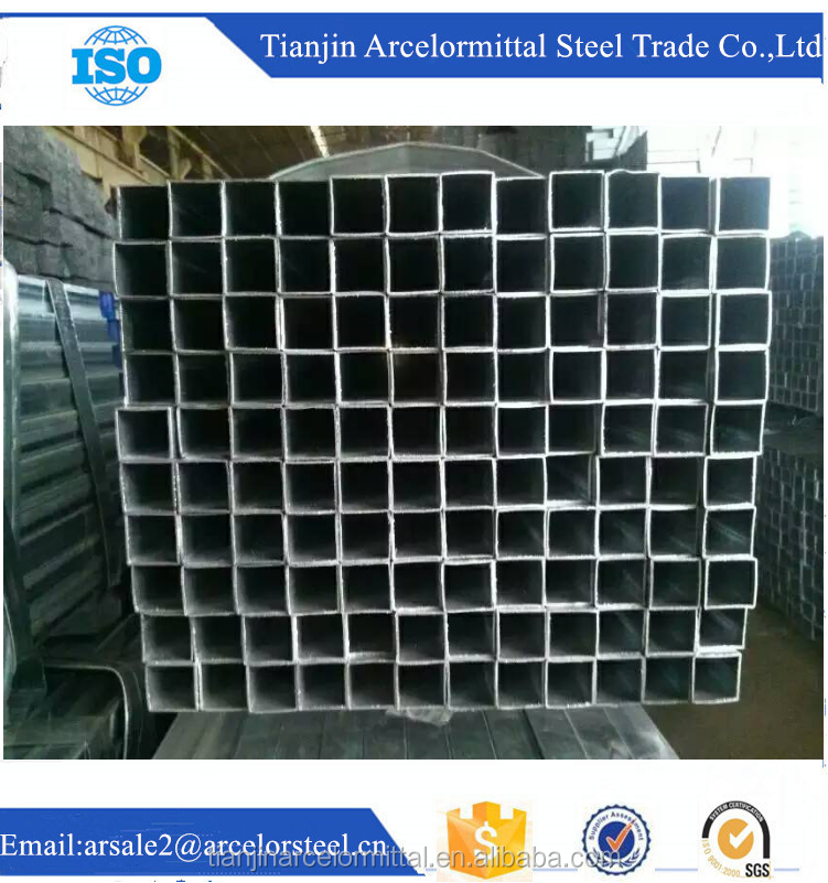 Trade Assurance BEST SELLING TUBE CARRE GALVANISE 80*80*3MM cross-section square steel tube supplier