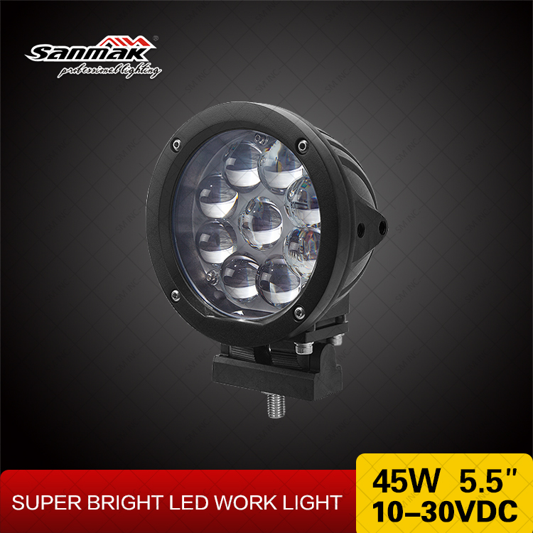 marine boat LED work light 45W CREE high power spot light adustable lamp
