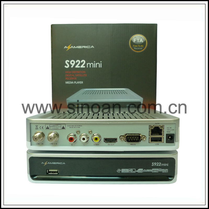 Receptor Azamerica S922 Mini Full HD for South America