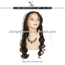 ZSY popular fashionable factory low price italian yaki human hair full lace wig