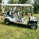 Custom electric operated golf cart off road with rear flip seats