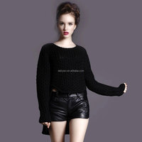 mix wool cashmere sweaters soft warm winter big brand O-neck wholesale outwear pullovers front short back long sweaters